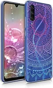 kwmobile TPU 保护套,适用于 Xiaomi Mi A3 / CC9e - 柔软弹性减震保护手机套 - 蜂蜜黄色49683.02_m001403 Indian Sun blue/dark pink/transparent