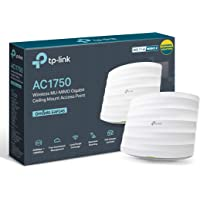 TP-Link AC1750 Wi-Fi 双频千兆天花板安装接入点,MU-MIMO,支持 802.3af/at/被动Po…
