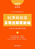 民事诉讼法及司法解释新编(含请示答复及指导案例)(2019年版)