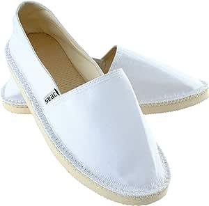 SEAC 男女通用马拉加 Maraga 帆布鞋 男女皆宜,白色,40