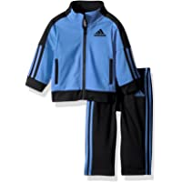 adidas 阿迪达斯 Iconic Tricot 经典男童徽标运动外套长裤套装