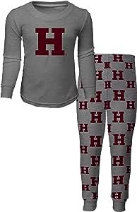 outerstuff NCAA 男孩4–7睡衣长袖 T恤和裤子套装 麻灰 Large(7)