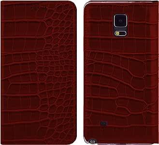 GALAXY S8 手机壳,DISPATCH 鳄鱼皮图案钱包式手机壳带翻盖【卡槽】适用于三星 GALAXY S8 棕色
