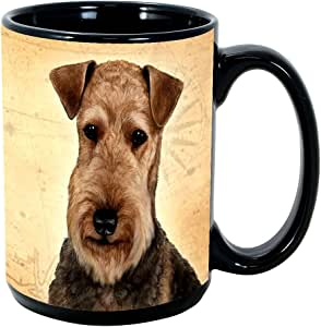 Dog Breeds (A-K) 15-oz Coffee Mug Bundle with Non-Negotiable K-Nine Cash by Imprints Plus (000) Airedale
