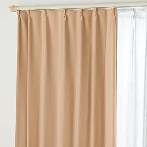 遮光窗帘B&蕾丝DO 11.焦糖棕色 幅125×丈178cm 4枚組 -