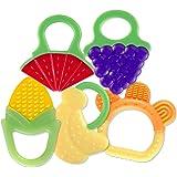 Baby Teething Toys (5 只装) xFF0;经 FDA 批准的软硅胶水果牙胶;适合宝宝;冰箱和洗碗机…