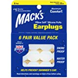 macks 枕头软硅胶耳塞超值装,6支装 6