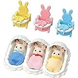 Sylvanian Families 森贝儿家族 公仔家具套装 照顾巧克力兔子宝宝套装 SE-204