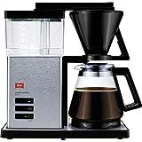 Melitta 香郁典雅,1012-01,过滤式咖啡机,带玻璃杯,黑色/拉丝钢 黑色/不锈钢 10 Tassen 667…