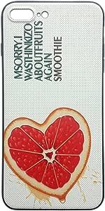 Bluesea Iphone 7/ iPhone 7Plus *可爱水果图案手柄软包印花浮雕 Tpu 带挂绳孔  グレープフルーツ iPhone 7 Plus