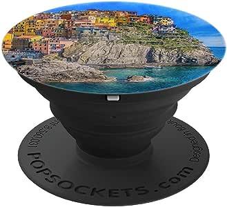 Cinque terre – 意大利 PopSockets 手机和平板电脑260027  黑色