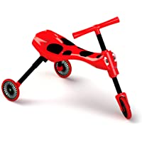 Scuttlebug Ride On - Walking Tricycle with a Foldable Design - Red
