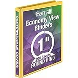 Samsill 12.7 cm Economy View 3 扣眼活页簿 1英寸 黄色