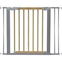 Baby Dan Avantgarde Safety Gate Door and Stair, 71.3 97.6 cm Beech/Silver