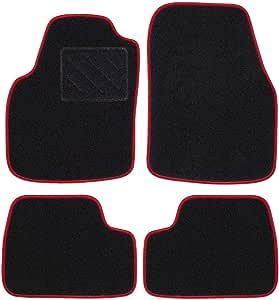 RAU DAKSRO0018 针毡脚垫,带镶边:红色无脚垫支架,黑色