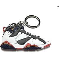 Air Jordan 复古 7 白色灰蓝色红色鞋钥匙链收藏品