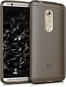 kwmobile TPU 硅胶手机壳 ZTE Axon 7 - 水晶透明智能手机背壳保护壳 - 蓝白透明39249.01_m000580 .黑色