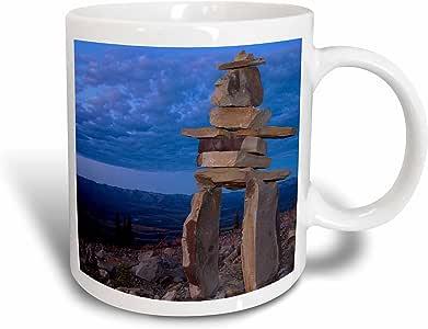 3drose danita delimont–*一个国家–ogilvie inukshuk 山,北 yukon-cn12tal0001–THEO allofs–马克杯 白色 15盎司