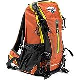 45L 内置框架徒步旅行和野营日背包,带防撕裂防水尼龙 Grizzly Peak 出品