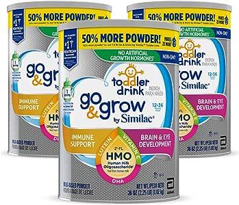 Similac 雅培 Go & Grow Non-GMO 幼儿配方奶粉 3段 1-3岁 3罐装 1.02kg*3(含铁, 添加2'-FL HMO )