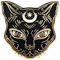 Real Sic 黑猫珐琅别针 - 猫别针 - 优质万圣节配饰