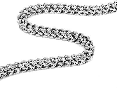 Urban Jewelry 惊艳厚 8 毫米不锈钢男士项链(银色)