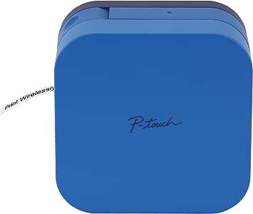 Brother 兄弟 P-Touch Cube智能手机标签制造商,蓝牙无线技术,多种模板可用,与Apple和Android兼容—蓝色