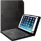 "Eoso TouchPad 平板电脑键盘套,2 合 1 蓝牙无线键盘带触摸板和皮革对开式保护套 9-10.5"""