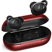 Soundcore 升級版 Anker Soundcore Liberty Neo True True無線耳機,重低音,IPX7防水,安全貼合,藍牙5耳機,立體聲呼叫,噪音隔離,一步配對,運動(紅色)