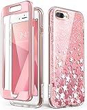 iPhone 8 Plus 手机壳,iPhone 7 Plus 手机壳,[内置屏幕保护膜] i-Blason [Cosmo] iPhone 8 Plus 和 iPhone 7 Plus 闪光透明防撞保护套iPhone7/8Plus-CosmoV2-SP-Pink 粉红色