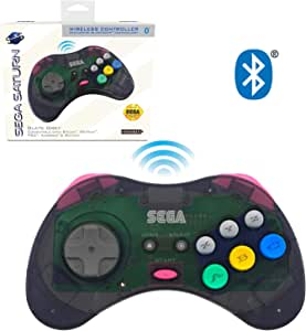 retro-bit SEGA Saturn® 8-Button Arcade Pad Bluetooth State Grey 复古刀 SEGA Saturn® 8 键 档垫 蓝牙 控制器 灰色