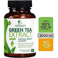 98% 绿茶萃取 1000 毫克 含有 EGCG - 多酚 - 温和咖啡因 - 补充剂 60 粒 60.00