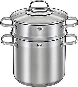 Rosle 宜施乐 不锈钢面食锅,带有玻璃盖,均码