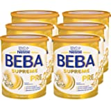 Nestlé BEBA雀巢贝巴 SUPREME Pre段初始婴儿奶粉:适合新生儿 即冲即饮 富含Omega 3 ,6罐装 (6 x 800g)(不含助溶剂,冲泡需用力摇,冲后有结晶非品质问题,请放心食用)