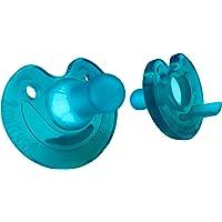 Philips 飞利浦 带缺口的新生儿安抚奶嘴,0-3个月-自然香气(2件装),绿色