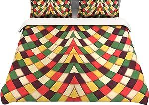 "Kess InHouse Danny Ivan ""Rastafarian Tile""双面棉被套,172.72 x 223.52 厘米"