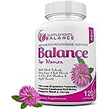 女士*平衡和更年期缓解* - 120 粒胶囊 2 个月供应 - 支持女性黑椰子、阴茎、鼠尾草、红三叶草、甘草和大豆异黄酮…