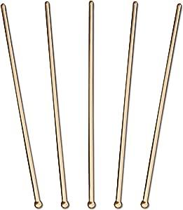 Royer 圆形顶部搅拌棒,搅拌棒,饮料搅拌器,6 英寸,48 件套,黑色 - 美国制造 青铜色