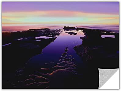 ArtWall Dean Uhlinger 'Low Tide Afterglow' Removable Graphic Wall Art, 18 by 24-Inch