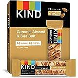 KIND Bars,Caramel 杏仁和海盐,无麸质,1.4 盎司,12 支装
