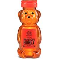 Nature Nate's 100% Pure Raw & Unfiltered Honey; 12-oz Bear Squeeze Bottle; Certified Gluten Free and OU Kosher Certified; Enjoy Honey's Balanced Flavors, Wholesome Benefits and Sweet Natural Goodness