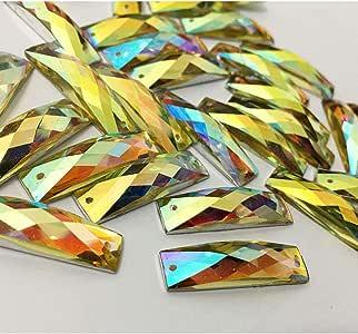 矩形树脂平背水钻 30 颗,CT-2160SK-SO Crystal Ab 26 x 7mm CT-2160SK-SO