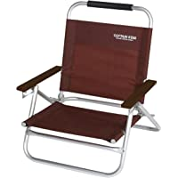 CAPTAIN STAG EXGEAR系列 鹿牌 椅子 躺椅 低型 棕色 UC-1502