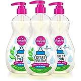 Dapple Baby 无香料洗碗液,瓶装,植物基,低变应原性,包括1个泵,16.9盎司液体/500ml(3件)(包装可能有所不同)