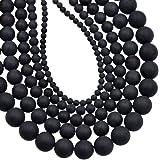 AD 珠光天然宝石圆形散珠 15 毫米 6mm 8 毫米 10 毫米 哑光黑玛瑙 6mm 6AFLsBdMBONX