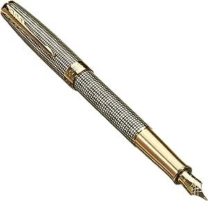 Parker 派克 十四行诗钢笔   镶金凿银   固态18k金中号笔尖   礼盒
