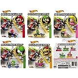 Character Hot Wheels 2019 Mariokart 压铸包;5 辆汽车套装:马里奥、路易吉、桃子、吉和鲍斯