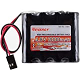 Tenergy 4.8V 2000mAh NiMH Receiver RX Battery with Hitec connectors for RC Cars and Airplanes