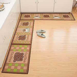 Cuteshower 防滑厨房地毯橡胶后门垫跑步者垫套装 咖啡豆 1 pc 20x59 inch unknown