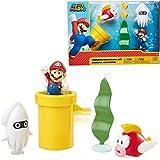 Nintendo 任天堂 马里奥 水下动漫游戏套装 2.5英寸 包括:马里奥, Cheep-Cheep, Blooper…
